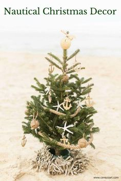 Nautical Themed Christmas Tree from CereusArt - Photo by Jami Thompson Photography Coastal Christmas Decor, Nautical Christmas, Tropical Christmas, Beach Christmas, Christmas Time, Coastal Decor, Holiday Decor, Christmas Arts And Crafts, Christmas Tree Themes