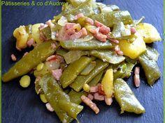 Poêlée haricot plat / pommes de terre / oignons / lardons