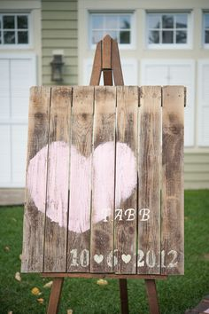 Palette wedding signage: http://www.stylemepretty.com/2014/01/30/10-rustic-wedding-details-we-love/