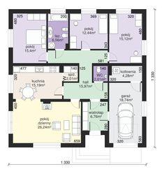 DOM.PL™ - Projekt domu Dom przy Słonecznej 2 CE - DOM EB2-49 - gotowy koszt budowy Architecture Plan, My Dream Home, Planer, House Plans, Floor Plans, House Design, Flooring, How To Plan, House Styles
