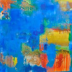 Colorful abstract painting. Suitable for home or corporate.