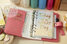 The gorgeous Websters Pages Daily Planner in Light Pink available at Create and Craft - http://www.createandcraft.tv/SearchGridView.aspx?fh_location=//CreateAndCraft/en_GB/$s=websters%20pages&gs=websters%20pages