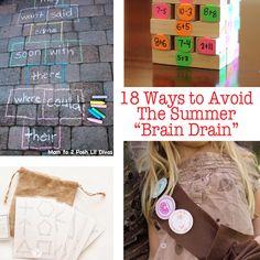 18 Ways to Avoid the Summer Brain Drain