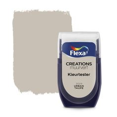 Flexa Creations muurverf kleurtester urban taupe 30 ml Latte, Taupe Paint, Valentines Day For Him, Beach Color, Makeup Rooms, Vanilla Cream, Urban, Vaseline, Wall Colors