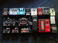 it's also 9 gain pedals. it's basically the guitar pedal version of a real nice beanie baby collection. Guitar Effects Pedals, Guitar Pedals, Diy Pedalboard, Bass Guitars, Acoustic Guitars, Electric Guitars, Guitar Pedal Board, Boss Pedals, Types Of Guitar