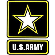 U.S. Army With Star Logo Clear Decal