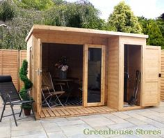 Cotswold 10x8 Modern Garden Room with Side Shed #shedoftheyear http://www.gardenshedstores.co.uk/Cotswold-10x8-Modern-Garden-Room-with-Side-Shed.htm