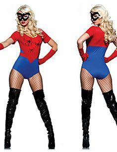 Mulher Aranha Red & Blue poliéster da Mulher Festa Halloween Costume