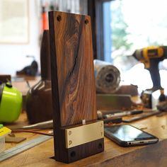 """522 Likes, 14 Comments - Clark Kellogg (@clark_kellogg) on Instagram: """"Wednesday afternoon mini-project! I made this tiny charging shelf for my phone out of some cocobolo…"""""""