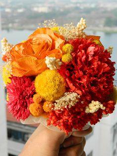 Autumn In Love - Red Orange Yellow Bouquet