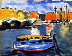 Two Boats in the Port of Marsella - Henri Matisse 1917
