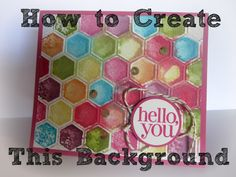 Embossing Folders with Markers, Stampin' Up, Tutorial, Watercoloring
