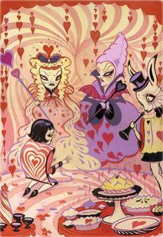 Camille Rose Garcia illustration from Alice in Wonderland.