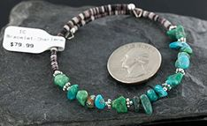 $80 Retail Tag Authentic Made by Charlene Little Navajo KINGMAN Turquoise Native American WRAP Bracelet Wholesale. Native-Bay has the largest online selection of Authentic ONLY Native American Jewelry. All stones used are Natural and hand-picked by the Native American artist. NEW condition with retail tag still attached. You will receive what you see in pictures, if the item is a pendant and it is photographed with a chain attached, you will receive the chain as well. Rings can be resized to…