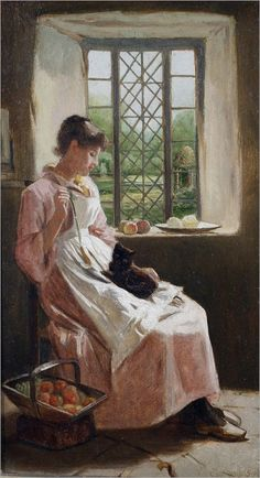 Carlton Alfred Smith (1853-1946)  https://es.pinterest.com/SoulCobbler/art-~-a-room-with-a-view/