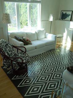 painted floor mat...