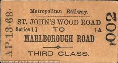 Image result for old british train tickets