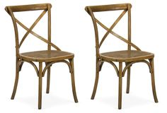 Large Cane Chairs, Pair | Distinctive Style | One Kings Lane