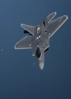 An F-22 Raptor assigned to the #95th Fighter Squadron at Tyndall Air Force Base, Fla., flies over the Norfolk Sea April 19, 2016, while participating in Exercise Iron Hand. The fifth generation, multi-role fighter aircraft participated to maximize training opportunities, affirm enduring commitments to NATO allies, and deter any actions that destabilize regional security.