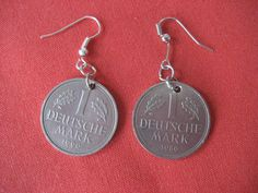 Deutschmark Ohrringe.  Finally!  Something useful to do with those leftover coins