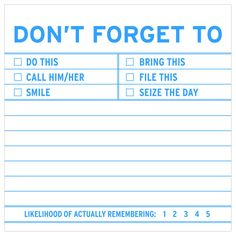 Knock Knock Don't Forget To Sticky Notes