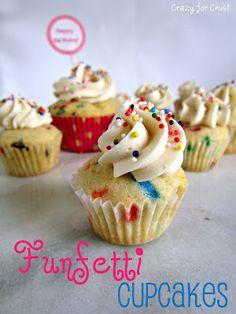 Funfetti Cupcakes - Crazy for Crust | Crazy for Crust
