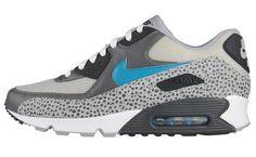"Nike Air Max 90 ""Safari"" Wolf Grey/Athletic Blue"