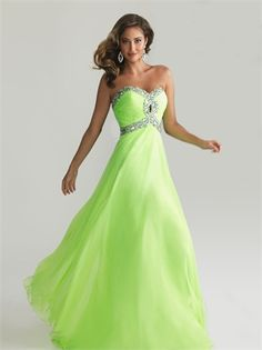 Strapless Ruched Bodice Beaded Empire Chiffon Prom Dress PD1494 www.tidedresses.co.uk $229.0000