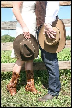 cowboy and cowgirl and hats Cowboy and cowgirl holding hands - cute engagement photo idea Join www.equestrianlover.com to seek single horse lovers,equestrian singles ,sexy cowgirls and handsome cowboys.