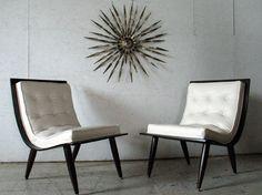 mid century danish modern scoop lounge chairs - love!