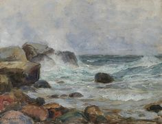 """Coastal Landscape"" by Thorolf Holmboe, 1929."