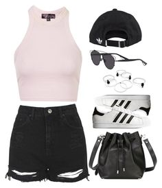 A fashion look from April 2016 featuring cropped tank top, high-waisted jean shorts and adidas originals shoes. Browse and shop related looks. Dance Outfits, Cool Outfits, Summer Outfits, Casual Outfits, Polyvore Casual, College Outfits, Dress Me Up, Fashion Photo, What To Wear
