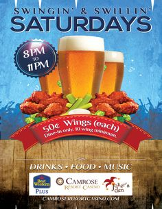 Join us on Saturdays for a great time out.