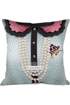 Madamme Dekoratif Yastık #DekorazonCom >> http://www.dekorazon.com/madamme-dekoratif-yastik-detayi-2653