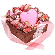 boyfriend gift basket Romantic Gourmet Cookies Gift Baskets Show your love just how much you care with our 18 PC Romantic Gift Basket! Each Basket includes: hand iced heart sug Cookie Gift Baskets, Homemade Gift Baskets, Valentine Gift Baskets, Valentine's Day Gift Baskets, Christmas Gift Baskets, Cookie Gifts, Valentine Gifts, Gourmet Cookies, Boyfriend Gift Basket