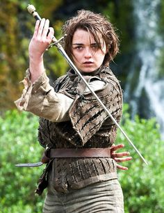My favorite character on game of thrones..Arya Stark - Melhor personagem de GOT - com sua Needle - agulha.