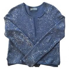 Neiman Marcus Cashmere Collection Long Sequin Cashmere Open ...