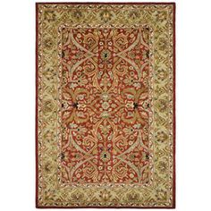 Safavieh�Heritage 7-ft 6-in x 9-ft 6-in Rectangular Red Transitional Wool Area Rug