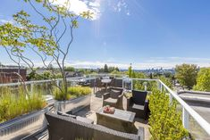 Incredible views, fantastic location & a flexible space for any lifestyle! You will love the flare of this 3 bdrm + flex home in the heart of Commercial Drive ft. engineered hardwood, in-suite storage & Cali closets. Great kitchen w/ quartz counters, s/s appliances & breakfast bar overlooks open dining & living space w/ cool westerly views & access to 1 of 2 balconies. One bedrm off the living areas, perfect for visitors or office! Upstairs has primary bdrm w/ tons of natural light… Living Area, Living Spaces, Rooftop Patio, Quartz Counter, Soaker Tub, Water Management, Get Educated, Outdoor Furniture Sets, Outdoor Decor