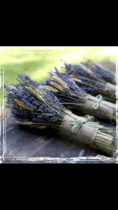 Wheat and lavender bouqet