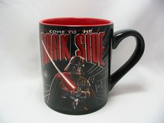 Star Wars Come to the Dark Side Laser Print Coffee Cup Mug 14 Oz.Black Red New #StarWars