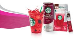 Starbucks Very Berry Hibiscus Refresher for an energy boost during grad school all-nighters