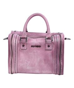 OLD TREND Orchid Mini Trunk Leather Bag by OLD TREND #zulily #zulilyfinds
