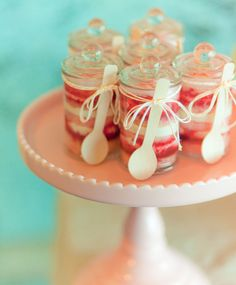 Artful Watercolor Wedding Inspiration-- little wooden spoons. So simple yet soooo needed