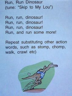 Dinosaur Music and Movement Activity
