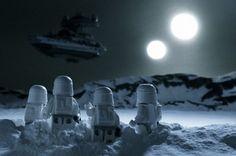 Snowy Star Wars Lego Toy Art on imgfave Lego Star Wars, Star Wars Art, Star Trek, Star Wars Love, Indiana Jones, Amour Star Wars, Legos, Jouet Star Wars, Aniversario Star Wars