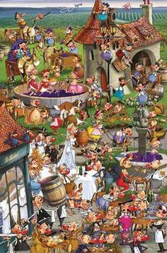 Ruyer - Story of Wine Cartoons Jigsaw Puzzle