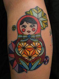 babushka doll geometric heart