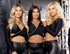 Monster Energy Girls, Monster Girl, Pit Girls, Promo Girls, Umbrella Girl, Sexy Outfits, Fitness Fashion, Lady, Bridal Nightgown
