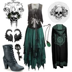 This is one cute ass witchy outfit! If I had stayed a girl, I totes woulda rocked this. Witch Fashion, Dark Fashion, Gothic Fashion, Witchy Outfit, Look Dark, Gothic Outfits, Mori Girl, Looks Cool, Mode Inspiration
